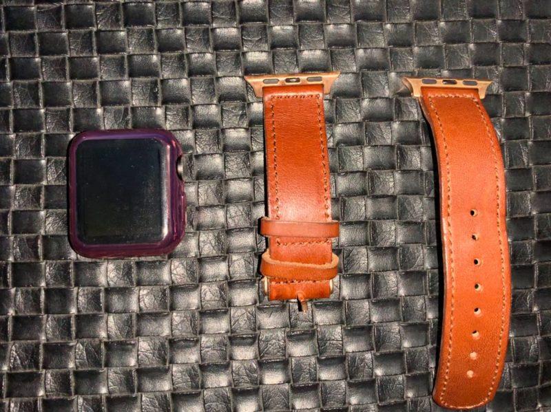 Apple Watch3と栃木レザーベルトー分離