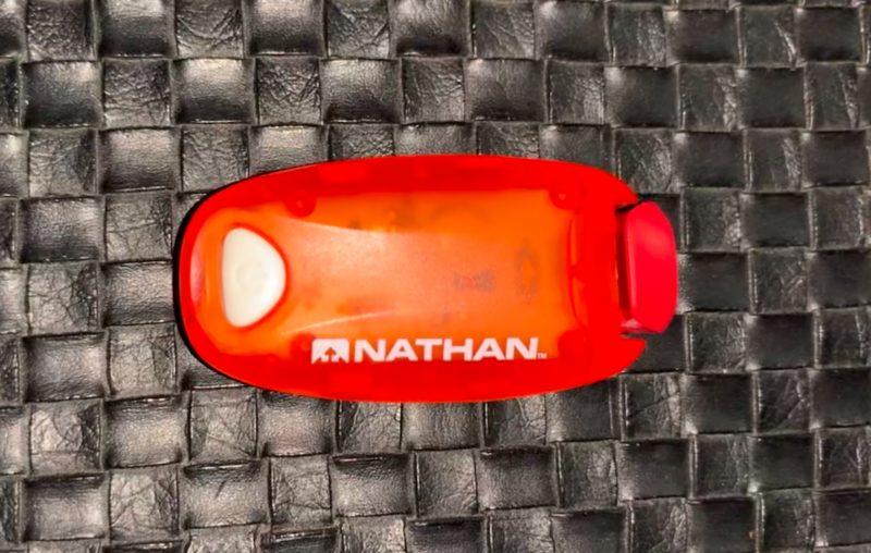 ランニング用クリップ付き赤色LEDライト
